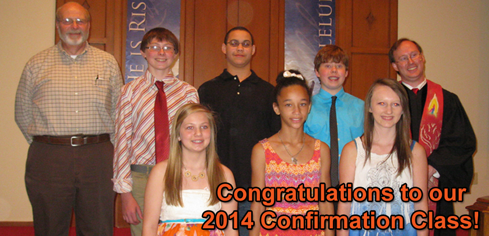 2014 Confirmation Group Photo